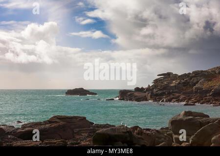 Pulpit Rock sur Peninnis Head, Saint Mary's, Îles Scilly, UK