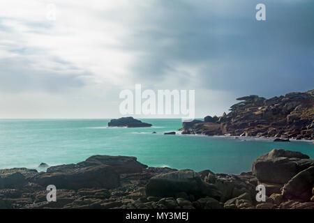 Pulpit Rock sur Peninnis Head, Saint Mary's, Îles Scilly, UK: temps d'exposition, à l'aide de filtre ND