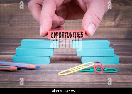 Opportunités, concept d'entreprise Banque D'Images