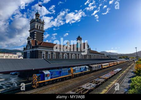 Gare de Dunedin à Dunedin, sur l'île du Sud de la Nouvelle-Zélande Banque D'Images