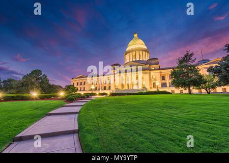 Little Rock, Arkansas, Usa à la capitale de l'Etat. Banque D'Images