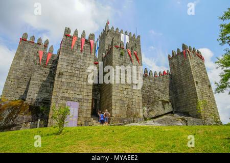 Le château de Guimarães, Portugal Banque D'Images