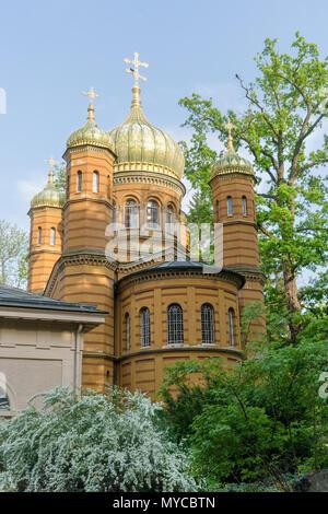 Eglise orthodoxe russe chapelle funéraire de Maria Pavlovna à Weimar en Allemagne Banque D'Images