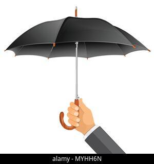 Parapluie dans la main Banque D'Images