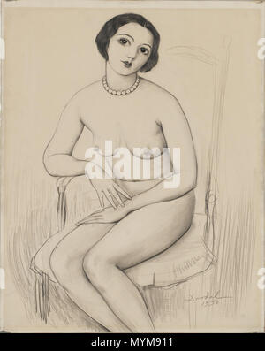 ". Anglais: NILS VON DARDEL 'Armeniska Signerad daterad' Dardel och 1930. Blyerts 63 x 48 cm. 7 juin 2015. Nils von Dardel (1888-1943) 389 NILS VON DARDEL ""Armeniska"""
