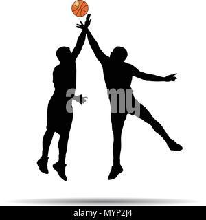 Joueur de basket-ball d'ossature Banque D'Images