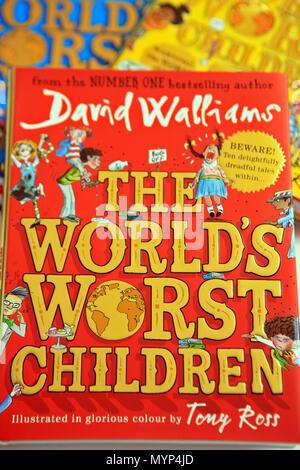 """David Walliams série de livres pour enfants """"La pire des enfants Banque D'Images"""