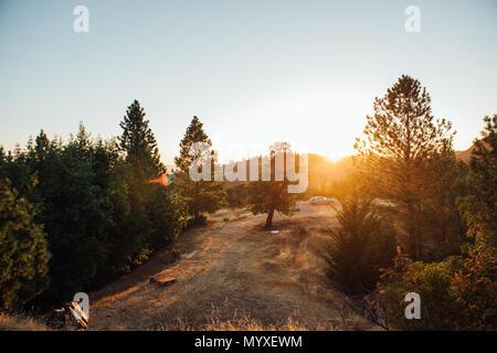 Location en camping dans la nature Banque D'Images