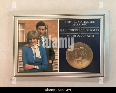 Kingskerswell, Newton Abbot, UK. 12 sep, 2017. Il y a 20 ans cette année, la mort de notre très aimé de la princesse Banque D'Images