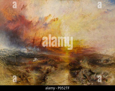 Navire d'esclaves, de jeter par-dessus bord les esclavagistes les morts et les mourants, typhon, JMW Turner, 1840, Museum of Fine Arts, Boston, Mass., USA, Amérique du Nord Banque D'Images