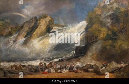 Chute du Rhin à Schaffhouse, JMW Turner, vers 1805-1806, Musée des beaux-arts de Boston, Mass., USA, Amérique du Nord Banque D'Images