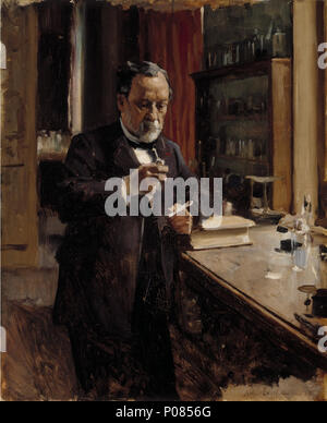 NGF476456 . Portrait de Louis Pasteur, de l'étude . 1885 274 Albert Edelfelt - Portrait de Louis Pasteur, de l'étude Banque D'Images