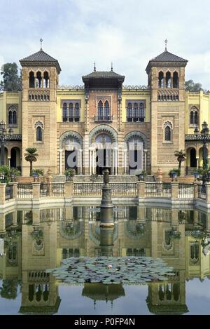 1993 FONTAINE HISTORIQUE PAVILLON MUDÉJAR PLAZA DE LAS AMERICAS PARQUE MARIA LUISA Séville Andalousie Espagne