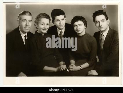La République socialiste tchécoslovaque, vers 1950: Vintage photo de famille. Banque D'Images