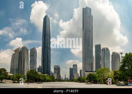 Les blocs de bureau sur place Huangcheng, Guangzhou, Chine Banque D'Images