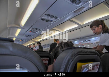 intrieur de la cabine dans un airbus a320 200 dair banque d