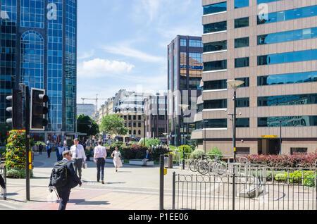 Des bureaux à Colmore Circus Queensway à Birmingham Business district Banque D'Images