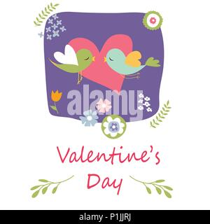 Happy Valentine's Day card Banque D'Images