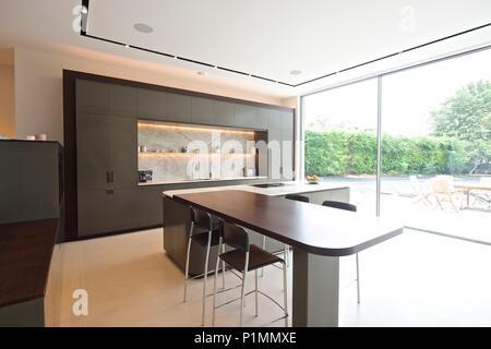 Cuisine moderne design d'intérieur Banque D'Images