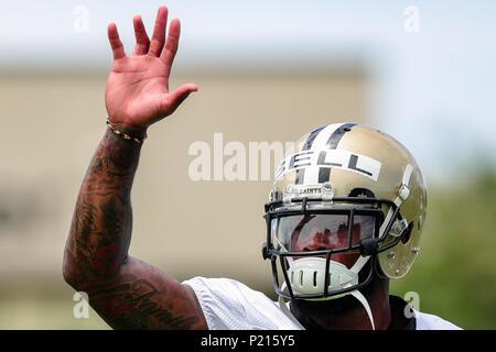 13 juin 2018 - New Orleans Saints arrière défensif Vonn Bell (24) participe à un minicamp obligatoire à l'Ochsner Sport Performance Centre de Metairie, LA. Stephen Lew/CSM