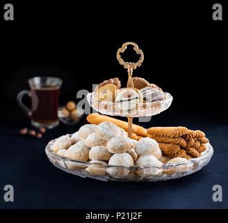 Eid Al-Fitr Sweet Cookies, des collations de moindre musulmane Banque D'Images