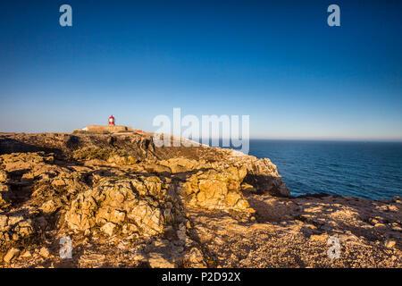 Phare, Cabo de Sao Vicente, Costa Vicentina, Algarve, Portugal