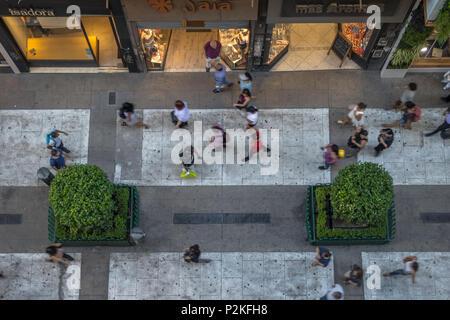 Vue aérienne de la Calle Florida (Florida street) - Buenos Aires, Argentine Banque D'Images