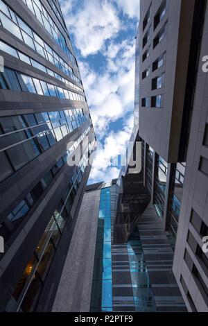 L'architecture, vue de l'Intérieur, de l'université, de la Saxe, Leipzig, Germany, Europe Banque D'Images