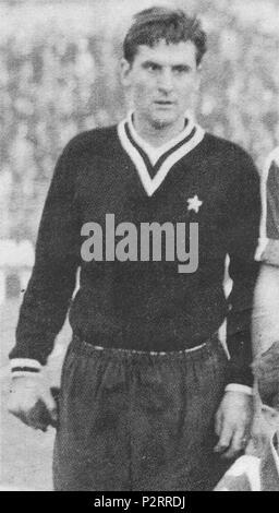 . Italiano: Il portiere di calcio italiano Roberto Anzolin Juventus negli Anni 60 alla del XX secolo. Années 1960. Inconnu 76 Roberto Anzolin - 1960 - Juventus FC Banque D'Images