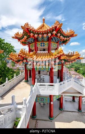 Le temple Thean Hou à la périphérie de Kuala Lumpur, Malaisie Banque D'Images