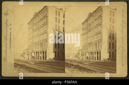 77 Bloc de cour, St Paul, Minn., par Woodward Stereoscopic Co. Banque D'Images