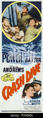 Titre original: CRASH DIVE. Titre en anglais: CRASH DIVE. Directeur de film: ARCHIE MAYO. Année: 1943. Crédit: 20TH CENTURY FOX / Album