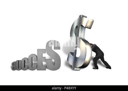 Comité permanent de l'argent grand symbole de réussite en isolé sur fond blanc Banque D'Images