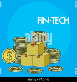 Concept Technolgoy financière Banque D'Images