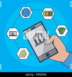 Technologie concept financier Banque D'Images