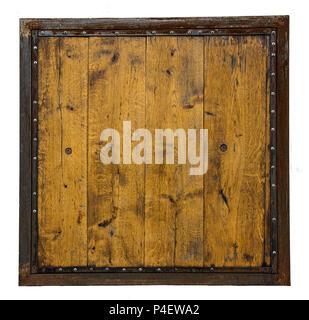 pancarte en bois brun plaque plank et dark frame sur fond blanc banque d 39 images photo stock. Black Bedroom Furniture Sets. Home Design Ideas