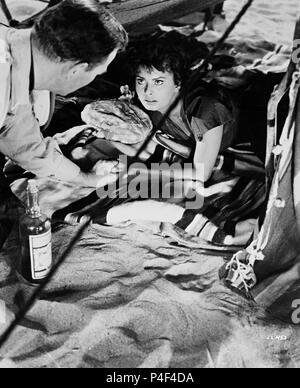 Titre original: LEGEND OF THE LOST. Titre en anglais: LÉGENDE DE LA PERDRE. Directeur de film: Henry Hathaway. Année: 1957. Stars: SOPHIA LOREN. Credit: United Artists / Album Banque D'Images