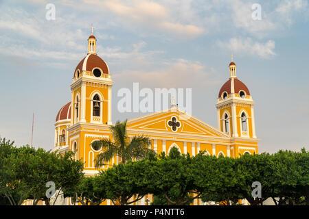 Détails de la célèbre Cathédrale de Grenade, au Nicaragua. Banque D'Images