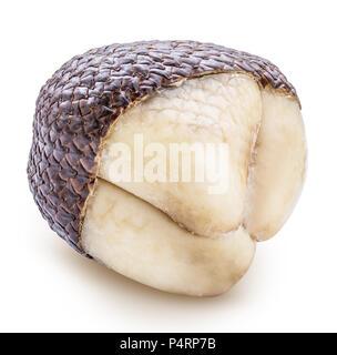 Indonésie salak ou fruit serpent sur fond blanc Banque D'Images