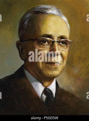 Marcel Pages (1924-1974). Physicien français. Portrait. Banque D'Images