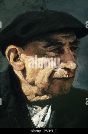 Henri Breuil (1877-1961), souvent désigné comme l'abbé Breuil. Prêtre catholique français, archéologue, anthropologue, ethnologue et géologue. Portrait.
