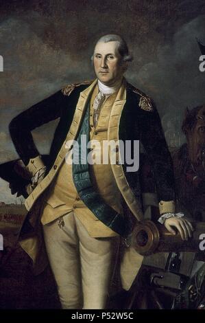 GEORGE WASHINGTON, en 1779 - PRINCETON - O/L - 232,7x148,3 cm. Auteur: Charles Willson Peale (1741-1827). Emplacement: ACADEMIA DE BELLAS ARTES, FILADELFIA-PENSILVANIA-NEW YORK. Banque D'Images