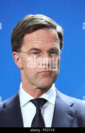 Berlin, Allemagne - Le Premier ministre néerlandais Mark Rutte. Banque D'Images