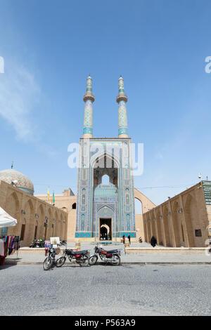 Mosquée Jameh Masjed-e ou mosquée du vendredi, Yazd, Iran Banque D'Images