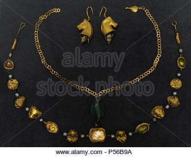 Bijoux romains de l'Époque Impériale. 1er-4e siècle. Musée des beaux-arts de Budapest. La Hongrie. Banque D'Images