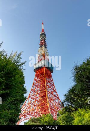 La Tour de Tokyo, au centre-ville de Tokyo, Japon, Asie Banque D'Images