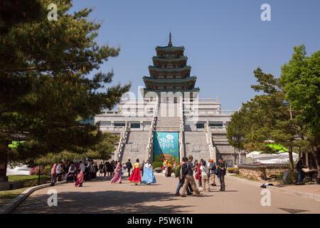 Le Musée Folklorique National de Corée Banque D'Images