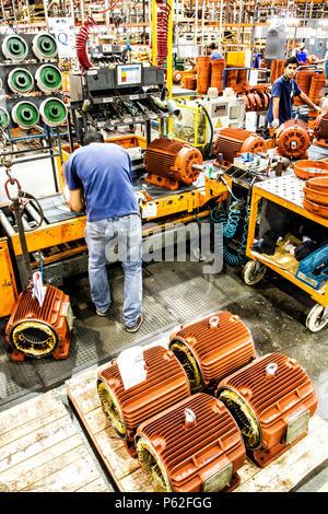 Installation industrielle de fabrication dans le sud du Brésil. Banque D'Images