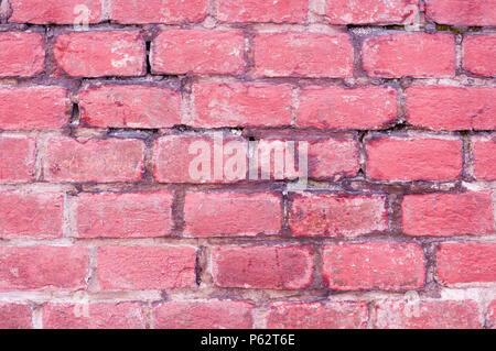 Mur de briques rouges, la texture, l'arrière-plan. Banque D'Images