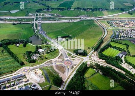 Hanzelijn au moment le plus grand projet ferroviaire en cours de construction aux Pays-Bas. C'est le site de la ville de Kampen et le la loc Banque D'Images